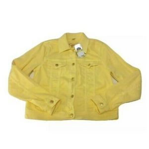 Micheal Kors denim jacket yellow NWT